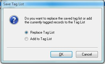 Update or Replace Tag List